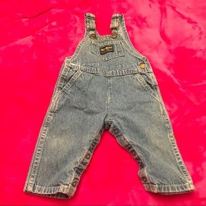 Vintage OshKosh 6-9 mo Denim Overalls